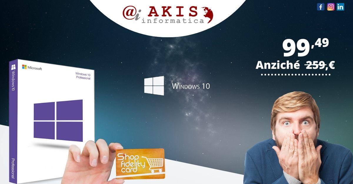 Microsoft Windows 10 Professional 64 bit Licenza ESD