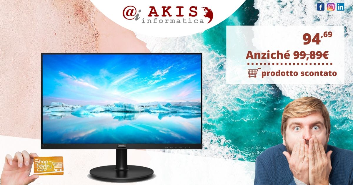 MONITOR PHILIPS LED 21.5″ per wp
